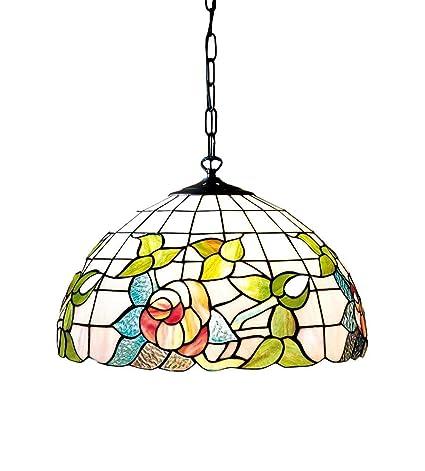 Lámpara Techo Tiffany con cadena lámpara de techo - Tamaños ...
