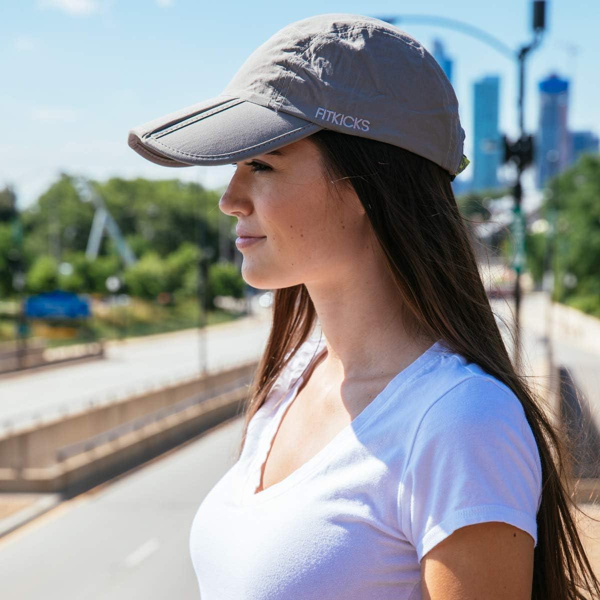 Active Lifestyle Hat Unisex Headgear FitKicks Folding Adjustable Cap UPF 50