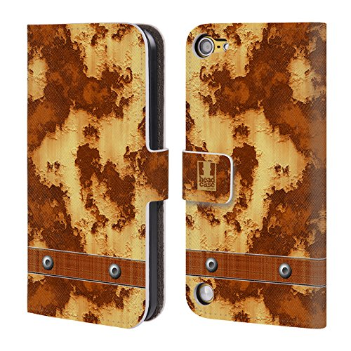 Head Case Designs Metallo Ruvido Texture Industriali Cover a portafoglio in pelle per iPod Touch 5th Gen / 6th Gen