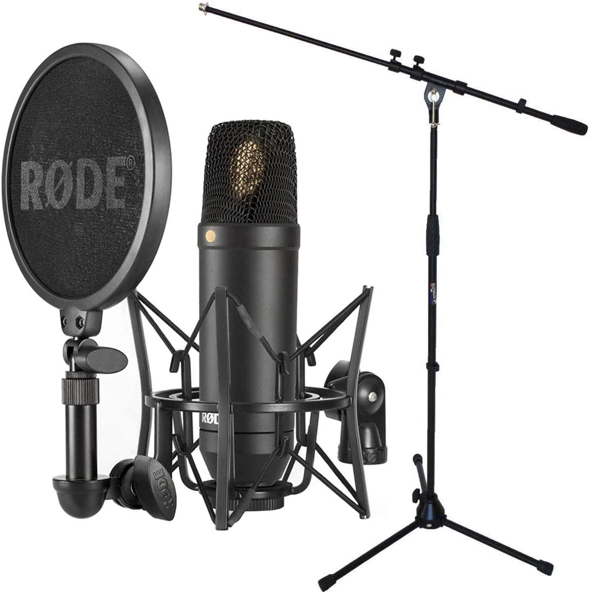 Rode NT1-KIT - Set de micrófono condensador y soporte para micrófono Keepdrum