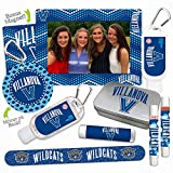 NCAA Villanova Wildcats Platinum Variety Set— with 2 Lip Shimmers, Lip Balm SPF 15, Nail File, Mirror, Sanitizer, Lotion, Mint Tin, Magnetic Picture Frame. Ideal gift for Mother's Day. Basketball.