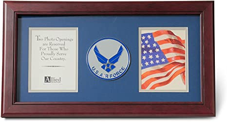 Amazon Com Allied Frame Us Air Force Wings Medallion Double Picture Frame Two 4 X 6 Photo Openings