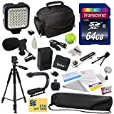 Advanced Accessory Kit for Canon VIXIA HF R52 HFR52, HF R50 HFR50, HF R500 HFR500, HF R32 HFR32, HF R30 HFR30, HF R300 HFR300, HF R42 HFR42, HF R40 HFR40, HF R400 HFR400, HF R36 HFR36, HF R306 HFR306, HF R38 HFR38, HF M50 HFM50, HF M52 HFM52, HF M56 HFM56, HF M500 HFM500, HF M506 HFM506 Video Camera Camcorder Includes 64GB High Speed Memory Card + Card Reader + Vivitar BP-718 BP718 Extended 2300 mAh Lithium Ion Battery + Battery Charger + Deluxe Padded Carrying Case + Professional Photo / Video