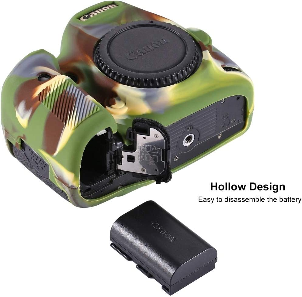 Ychaoya Camera Case Wuzpx Mild Silicone Protective Case for Canon EOS 5D Mark III Color : Color1 5D3 Camouflage