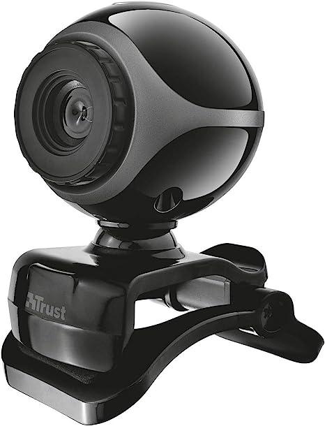 Trust Exis - Webcam con micrófono Incorporado, Color Negro: Amazon ...