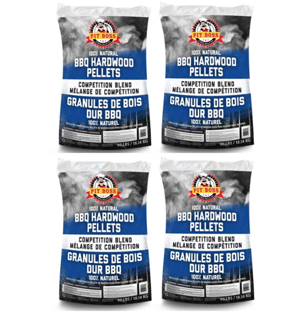 PIT BOSS BBQ Wood Pellets, 40 lb, Competition Blend (4) by PIT BOSS