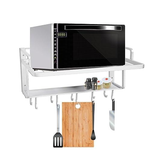 Estante de horno para microondas, estante de aluminio para colgar ...