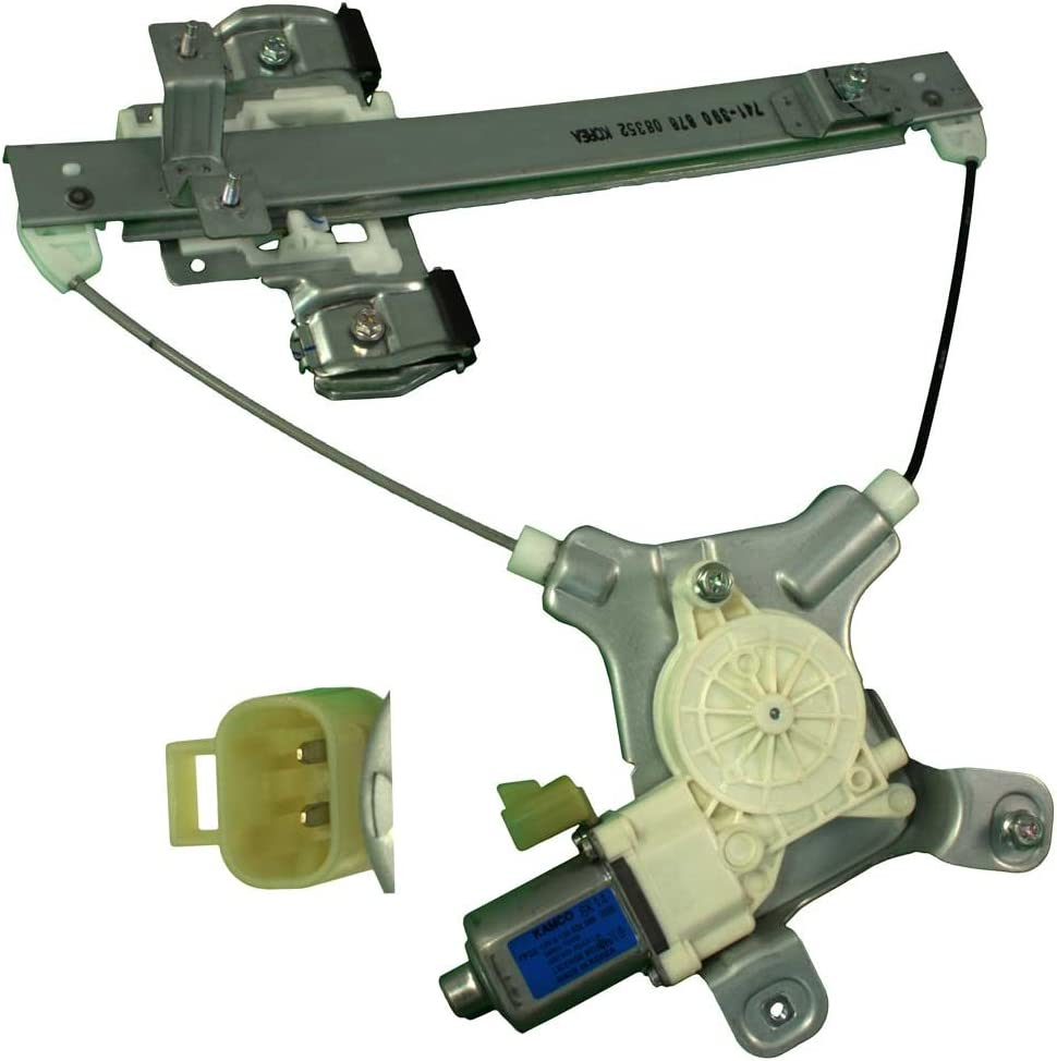 APDTY 852401 Window Motor Regulator Assembly Fits Rear Left 2007-2014 Cadillac Escalade Chevrolet Tahoe GMC Yukon (Driver-Side Rear; Replaces 15883001, 15841699, 25885882)