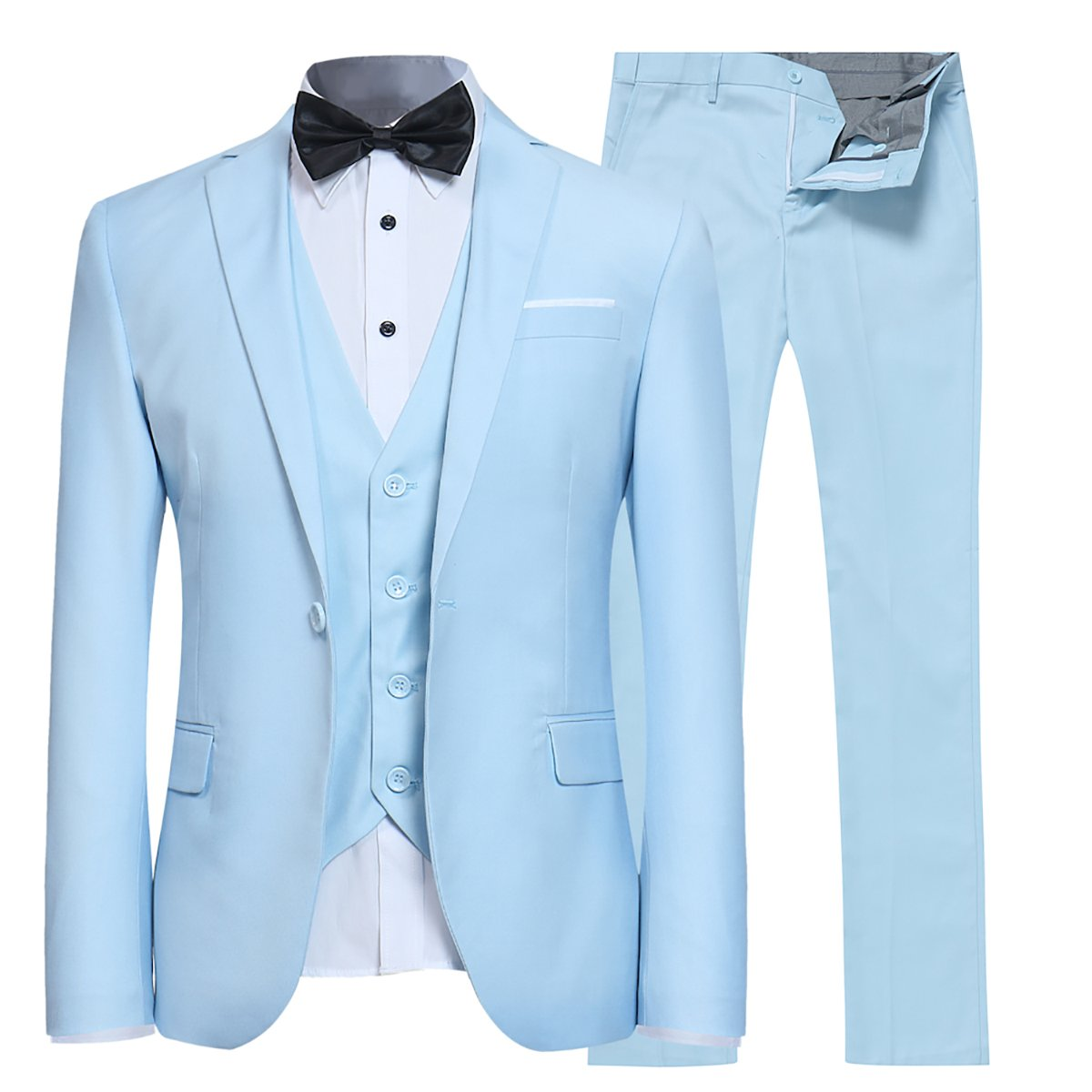 Mens Suits 3 Pieces Fitted Cut Classic Style One Button Formal Suits EHXZ03