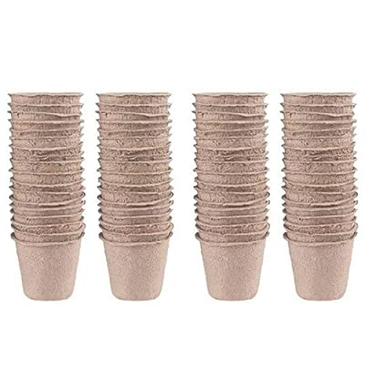 RONRONS 60 Pieces Peat Pots Plant Starters for Seedling, Planting Seed Tray, Round Garden Germination Nursery Cups for Vegetable Herb Flowers: Garden & Outdoor