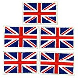 union jack patch - FLAG010X5 - UK Flag Patch, United Kingdom Flag Patch, British Flag Patch, Union Jack - Embroidered Patches - Iron on Patches - Size 5 x 3 Cm. ( 5 Pcs / Pack )