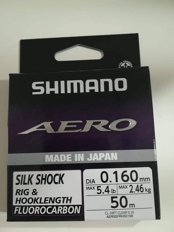 AERSSFRH50158 SHIMANO Fluorocarbone Aero Slick Shock Fluo ld Grey 50m D.0,15mm R.2,46Kg