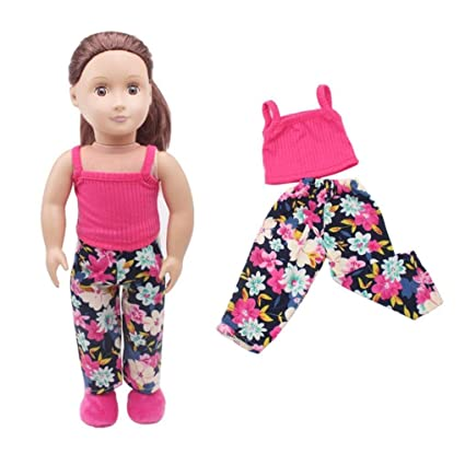 8bc291eea Amazon.com: PrettyW Clothes + Pants For 18'' American Girl & Boy Dolls  Logan Doll (Red): Musical Instruments