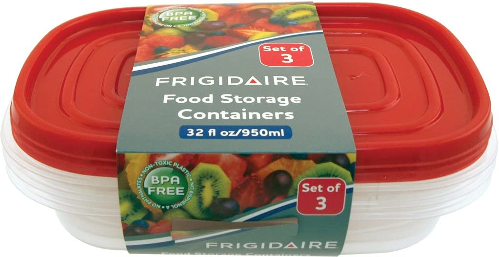 Frigidaire 1 Quart Food Containers- 3 Pack Case Pack 12
