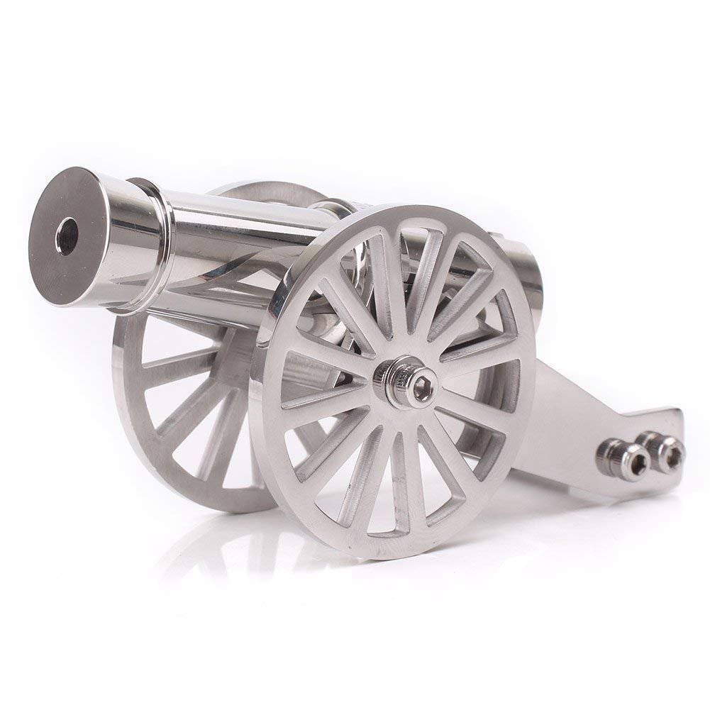 Lymhy Napoleon Stainless Steel Pocket Artillery Mini Cannon Military Model for Mens Collection
