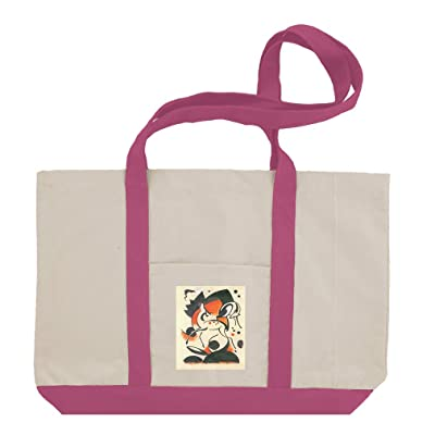 Composition With Two Deer (Franz Marc) Cotton Canvas Boat Tote Bag Tote