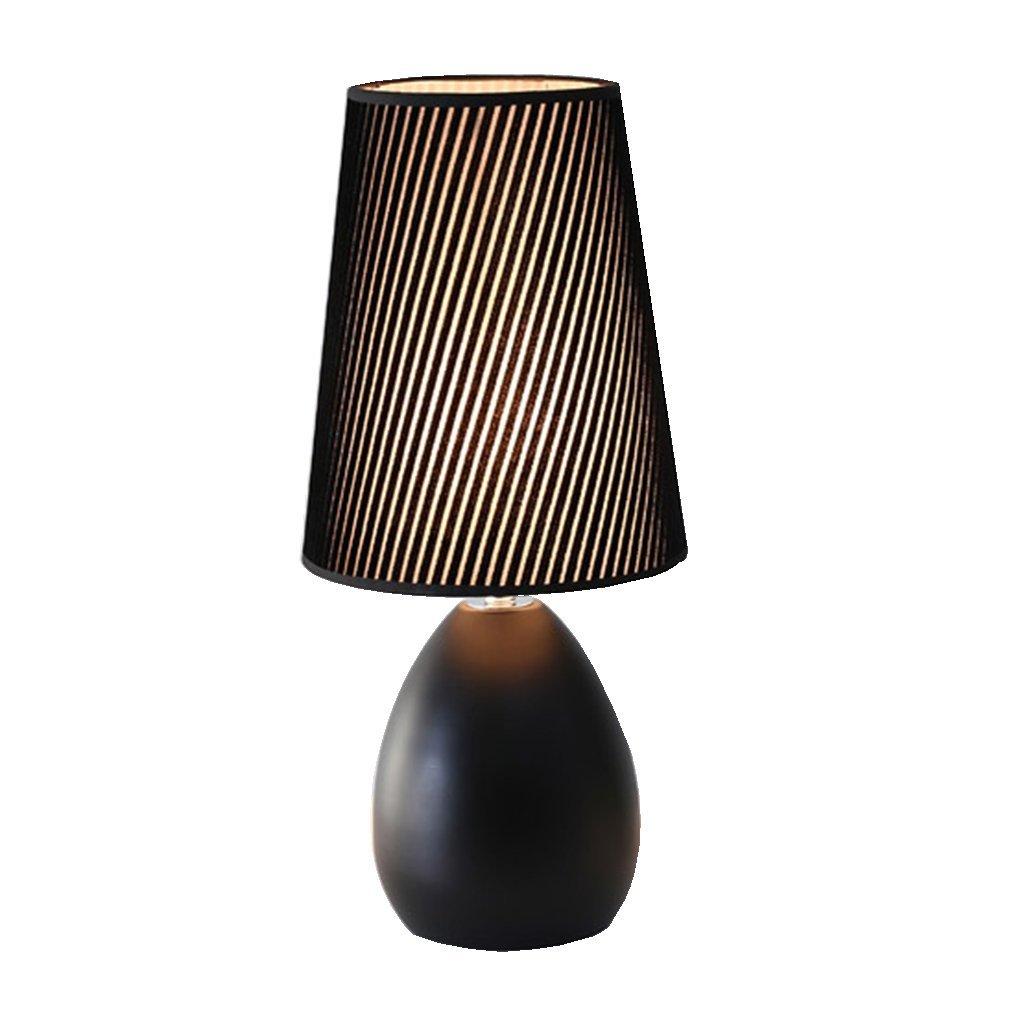 20-MoozhiTech 北欧のミニマリストの現代的なファッションクリエイティブ調光暖かさデスクランプ (Color : ブラック) B07TJYBZCS ブラック