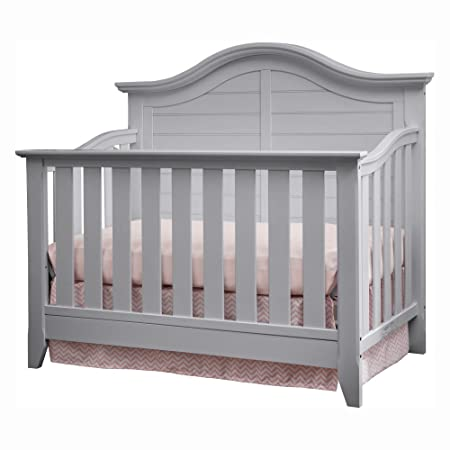 Thomasville Kids Southern Dunes Lifestyle 4-in-1 Convertible Crib, Pebble Gray, Easily Converts to Toddler Bed Day Bed or Full Bed, Three Position Adjustable Height Mattress Mattress Not Included