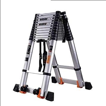 Extensibles Escalera telescópica Escalera de tijera de alta resistencia Flip-N-Lite con extensión de decoración de plataforma Multi propósito alto (Size : 3.5m(11.5ft)): Amazon.es: Bricolaje y herramientas