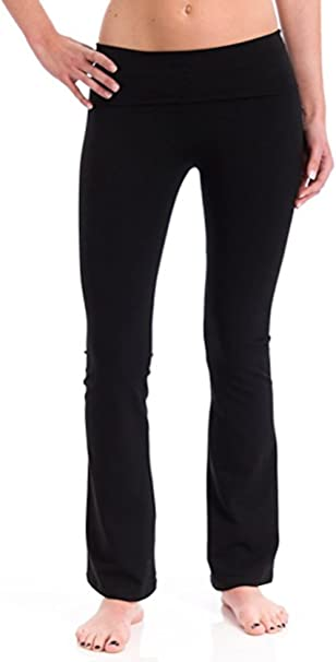 Amazon.com: t-party doblar Cintura Pantalones De Yoga: Clothing