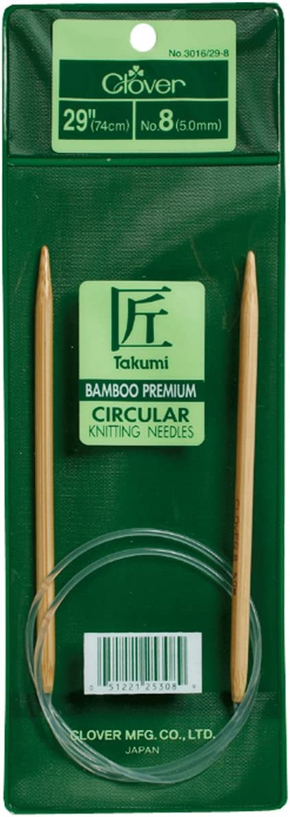 Choose From *12* Sizes! Clover Takumi Bamboo Circular Knitting Needles 29/""