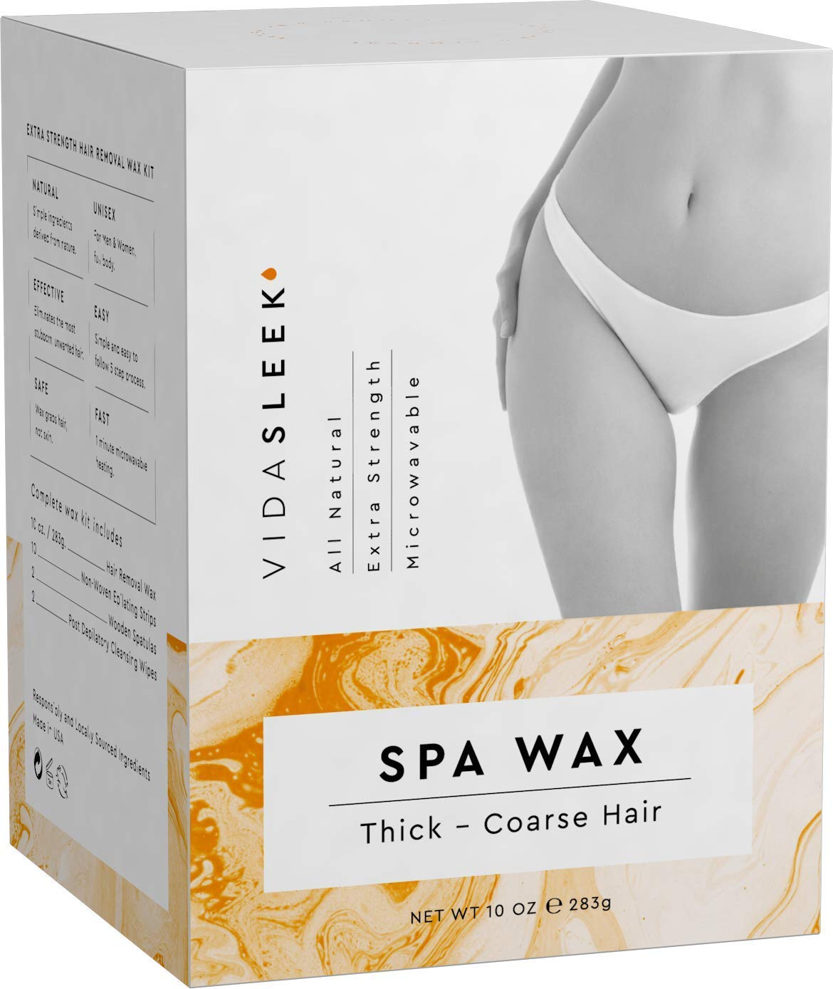 Amazon Com Extra Strength Hair Removal Waxing Kit Men Women