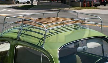 Silver Frame Roof Rack Volkswagen 1949 1977 Bug 1971 1977 Super Beetle VW  Type