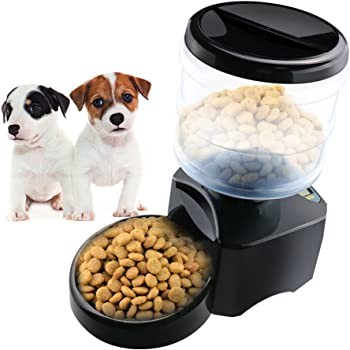 CEESC Electronic Automatic Pet Feeder 5 L Digital LCD Screens and Voice Recording