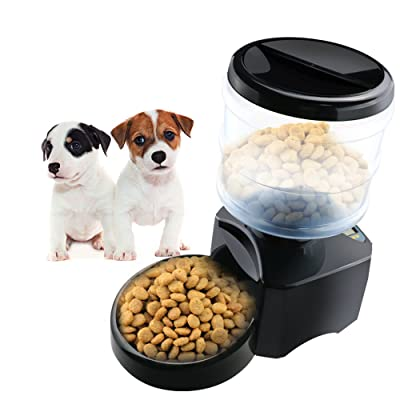 CEESC Electronic Automatic Pet Feeder 5L Digital LCD Screen and Voice Recording