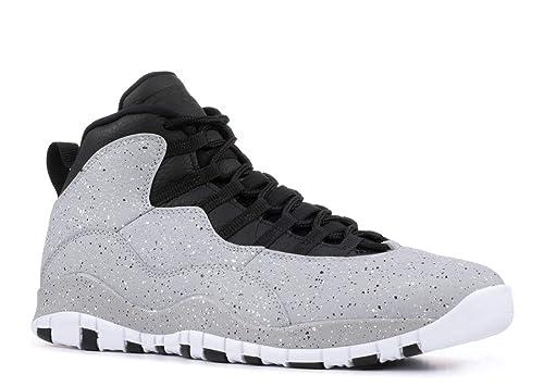 Amazon.com: Nike Air Jordan 10 Cement 310805 - Zapatillas de ...