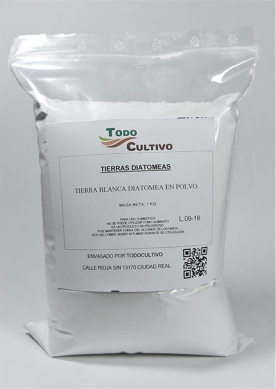Tierras de diatomeas Blancas. Envase 1 Kg. Insecticida acaricida ecológico desparasitador de garrapatas pulgas ácaros lombrices, Perros, Gatos y Aves. Uso ecológico. Material de filtración.