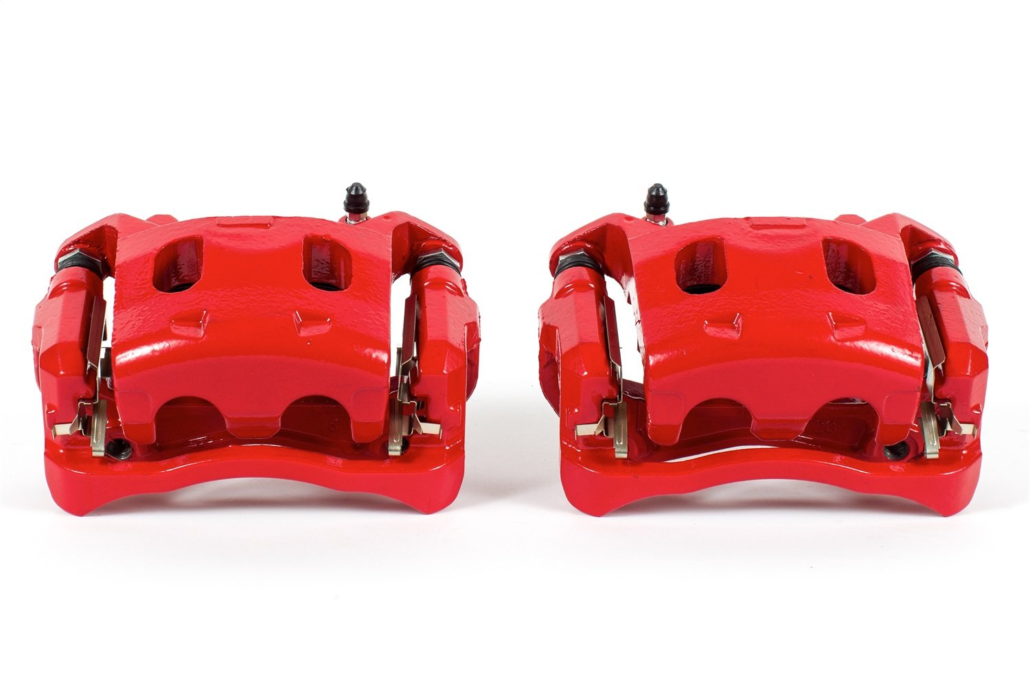 Power Stop S7100 Power-Coated Red Performance Caliper Pair