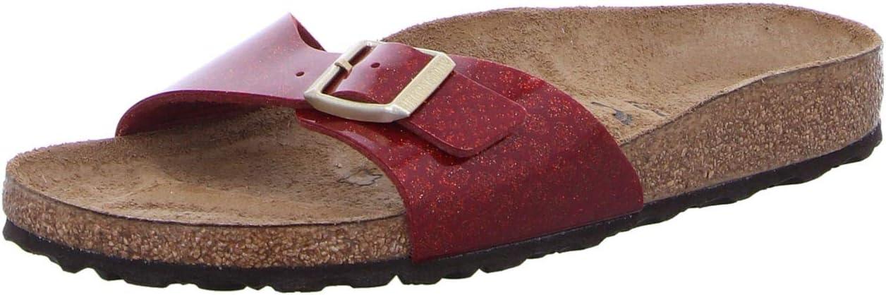 Rojo Sandalias para Mujer Corcho