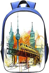 Amazon.com   Blue School Bag Children Backpack, Blue