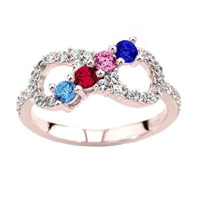 Amazon NANA Infinity Mothers Ring with 1 to 6 Simulated