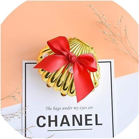 Cajas decorativas de 30 unidades por bolsa, caja de regalo de concha dorada para bodas, caja de plástico para decoración de festivales, cajas de regalo de chocolate, suministros de fiesta: Amazon.es: Hogar