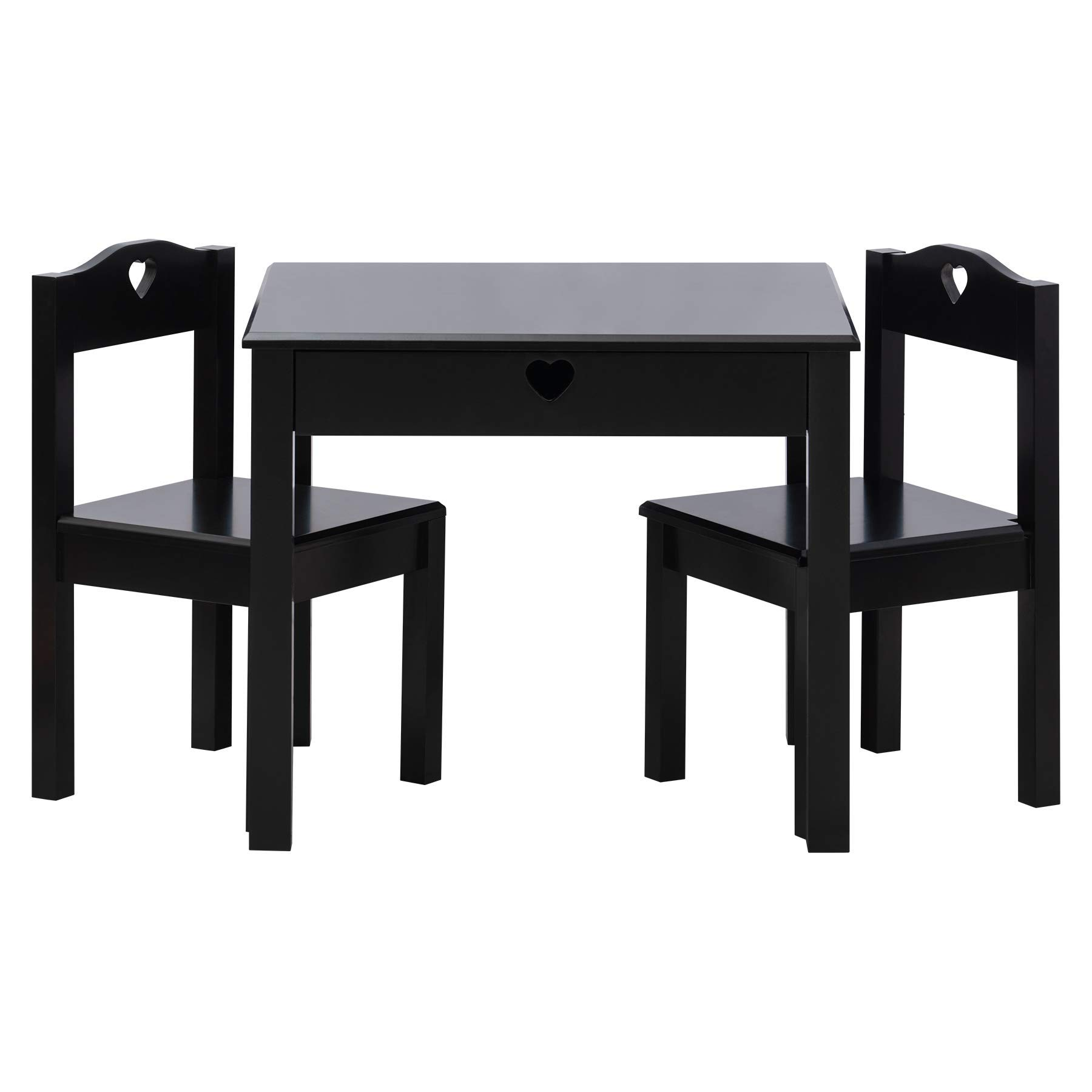 Fineboard FB-KT01-BK 2 Chairs Table for Kids Room, Black by Fineboard