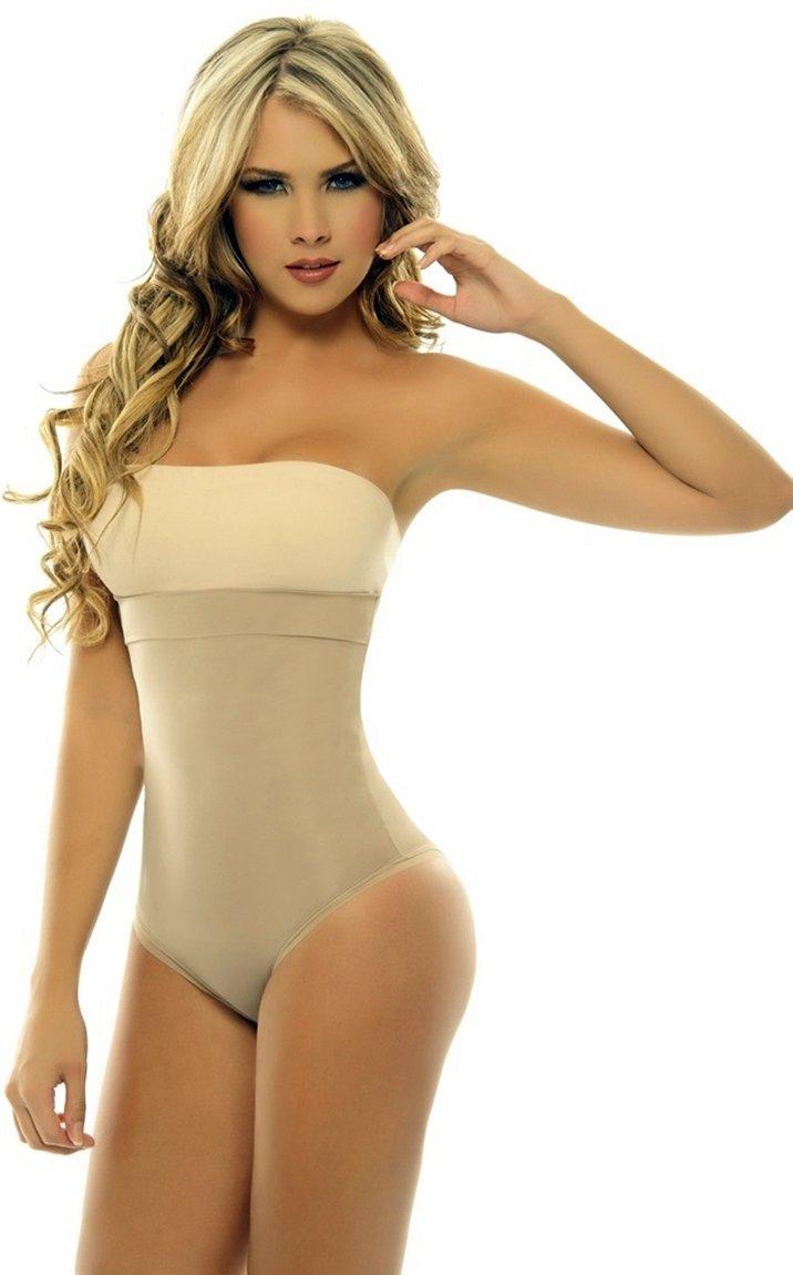 6cf5e94761d4b Amazon.com  ShapEager Shapewear Lycra - Nylon Body Braless Strapless Panty Type  corset Waist  Baby