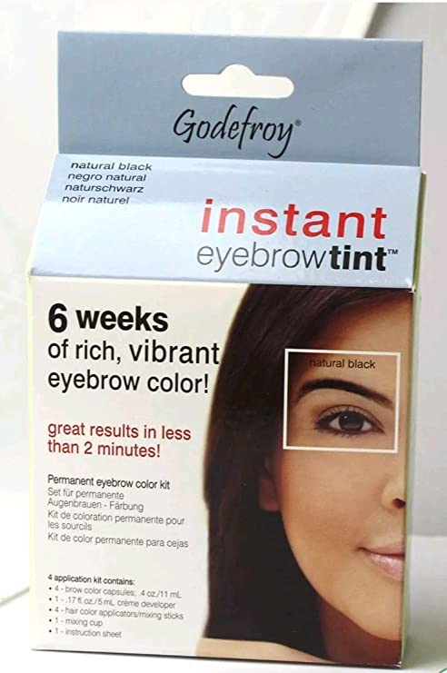 Buy Godefroy Instant Temporary Eyebrow Tint Brown Natural Black