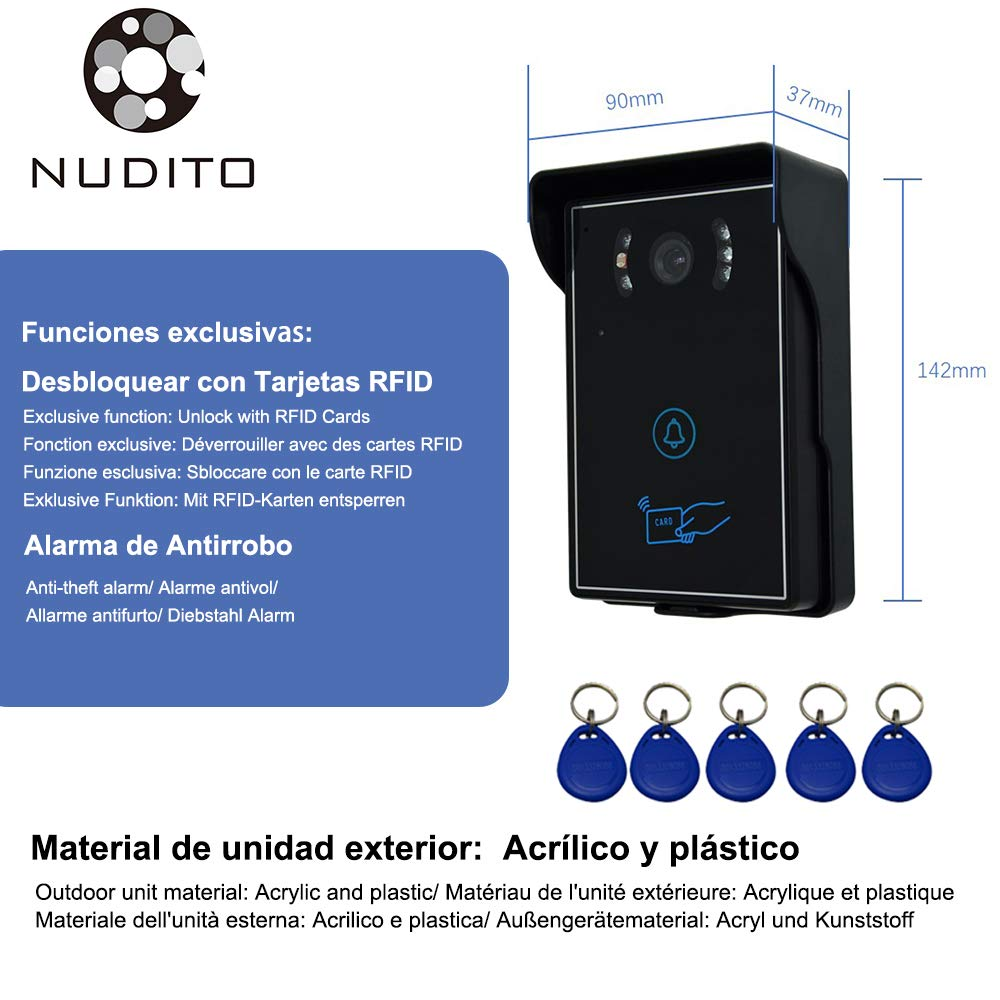 Amazon.com: NUDITO Ultrathin Video Doorbell Kit for Home ...