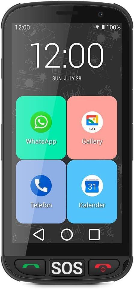 ic/ônes XXL Socle de Chargement /écran de 5 Pouces Boutons physiques pour raccrocher et d/écrocher SPC Apolo Smartphone pour Personnes /âg/ées avec Bouton SOS m/émoire Extensible de 16 Go,Android 10