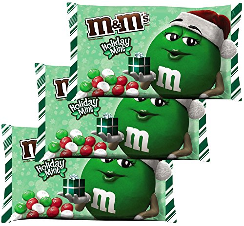 (M&M Solid Milk Chocolate Christmas Candy -