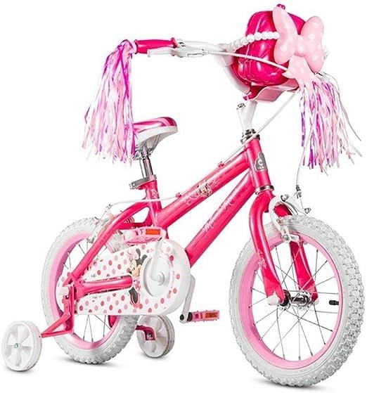 DYFYMXBicicleta niño Bicicleta de Pedal Star Girl - Bicicleta Infantil, Color Rosa, Talla 12