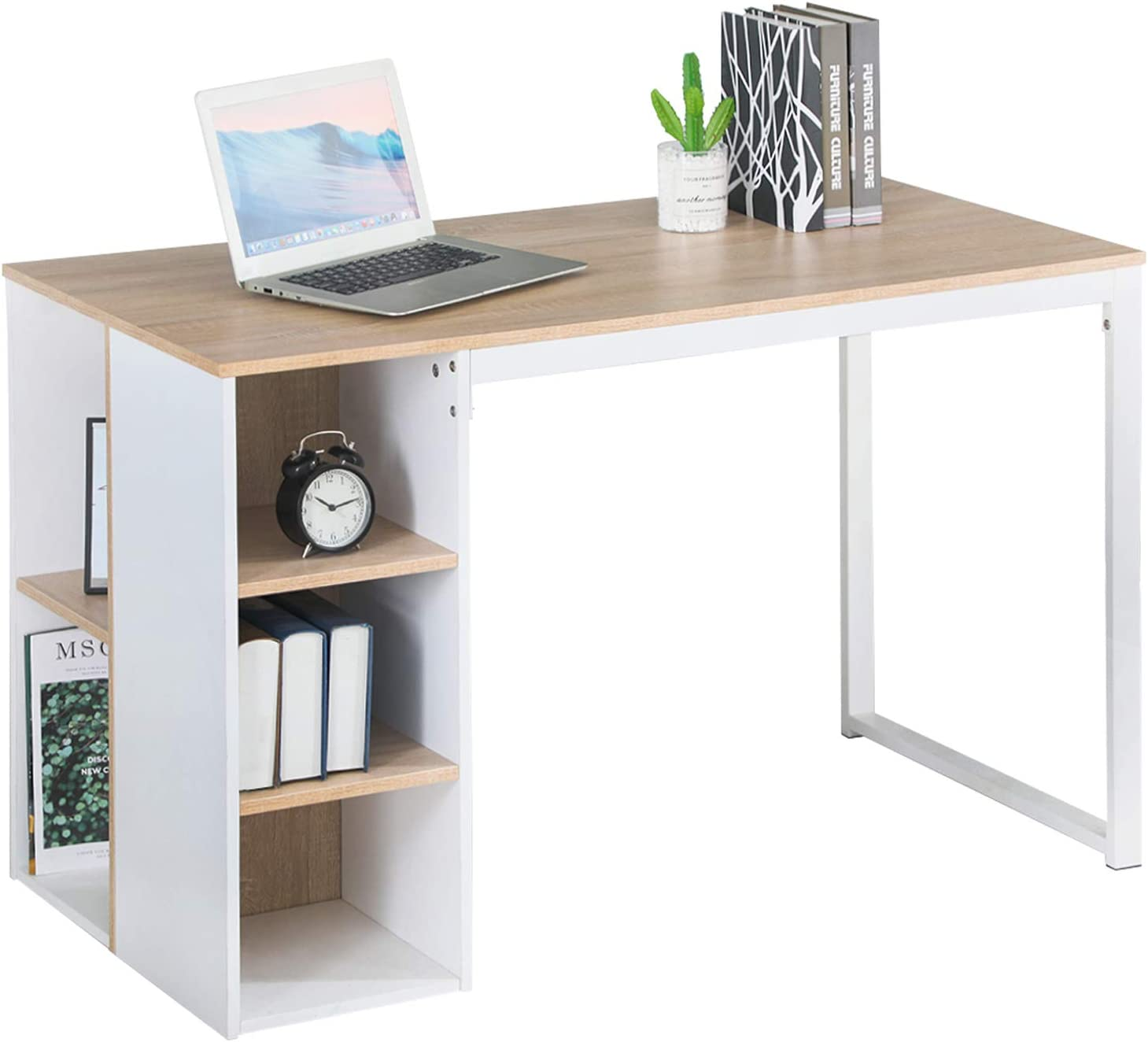 - Amazon.com: Office Computer Writing Desk With Storage, Large Work