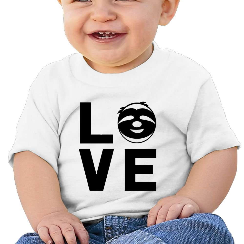 REBELN Love Sloths Cotton Short Sleeve T Shirts For Baby Toddler Infant