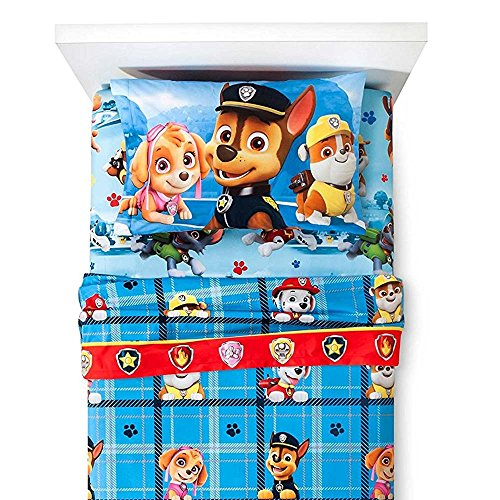 - Paw Patrol Chase Twin MicroFiber Flannel Sheets