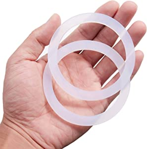 Litorange 20 PCS Reusable Food Grade Silicone Seals for Leak Proof Mason Jar Lids (Wide Mouth),Plastic Storage Lids Gaskets fit Ball, Kerr - Pack of 20