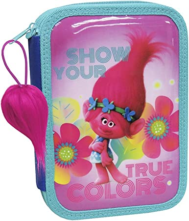 TROLLS- Plumier True Colors Doble (EP-101-T): Amazon.es: Juguetes y juegos