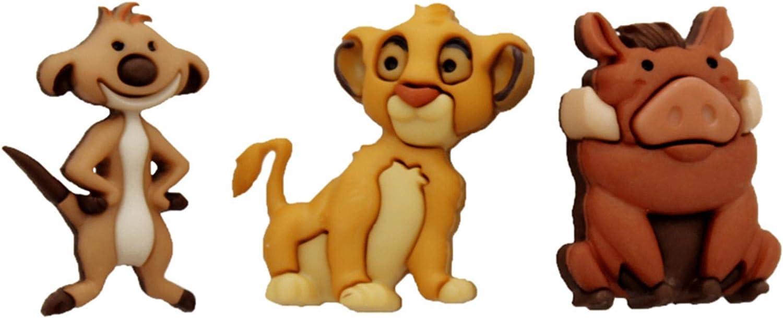 Jesse James Adornos Disney Simba, Timon & Pumba: Amazon.es ...