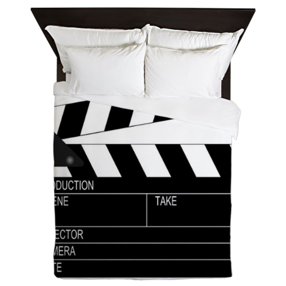 CafePress - Director' Clap Board - Queen Duvet Cover, Printed Comforter Cover, Unique Bedding, Microfiber